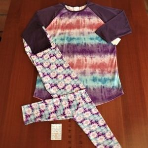 LULAROE OUTFIT! 2XL- RANDY TOP with TC- LEGGINGS